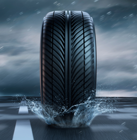 How can tyres stop Aquaplaining?