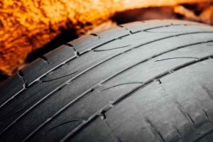 used car tire with worn-out depth of tread